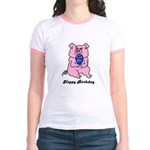 HAPPY BIRTHDAY PINK PIG Jr. Ringer T-Shirt
