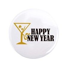 "Happy New Year 3.5"" Button (100 pack)"