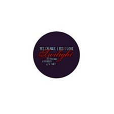 Male Who Loves Twilight Mini Button (10 pack)