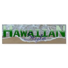 Hawaiian Style Bumper Bumper Stickers
