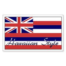 Hawaiian Style Rectangle Decal