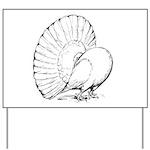 Fantail Pigeon Yard Sign