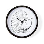Fantail Pigeon Wall Clock