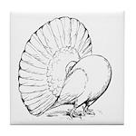 Fantail Pigeon Tile Coaster