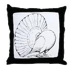 Fantail Pigeon Throw Pillow