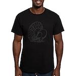 Fantail Pigeon Men's Fitted T-Shirt (dark)