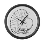 Fantail Pigeon Large Wall Clock