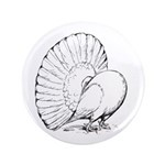 """Fantail Pigeon 3.5"""" Button (100 pack)"""