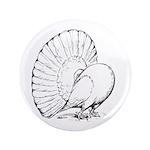 "Fantail Pigeon 3.5"" Button"