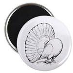 """Fantail Pigeon 2.25"""" Magnet (100 pack)"""