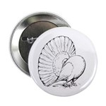 """Fantail Pigeon 2.25"""" Button (100 pack)"""