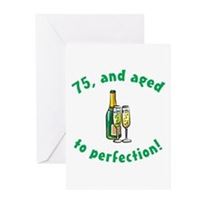 75, Aged To Perfection Greeting Cards (Pk of 10)