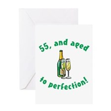55, Aged To Perfection Greeting Card