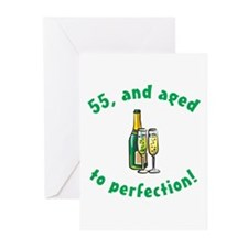 55, Aged To Perfection Greeting Cards (Pk of 20)