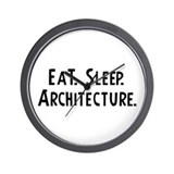 Eat, Sleep, Architecture Wall Clock