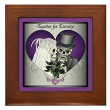 Wedding Skulls Framed Tile