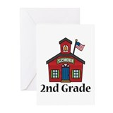2nd Grade School Greeting Cards (Pk of 20)