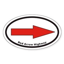 Red Arrow Highway Euro Oval Decal