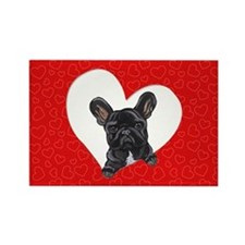 Black Frenchie Lover Rectangle Magnet (10 pack)