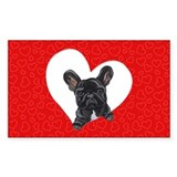 Black Frenchie Lover Decal