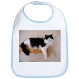 Black and White Longhaired Cat Bib