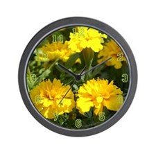 Yellow Marigold Wall Clock