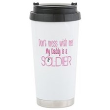 Don't mess with me - pink Ceramic Travel Mug