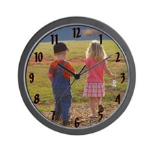 Sam & Sammy Wall Clock w/black numbers