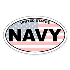 US Navy Oval Decal