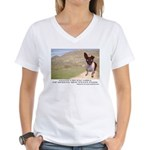 Giant Chupacabra Women's V-Neck T-Shirt