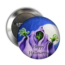"Green Ghoul - 2.25"" Button"
