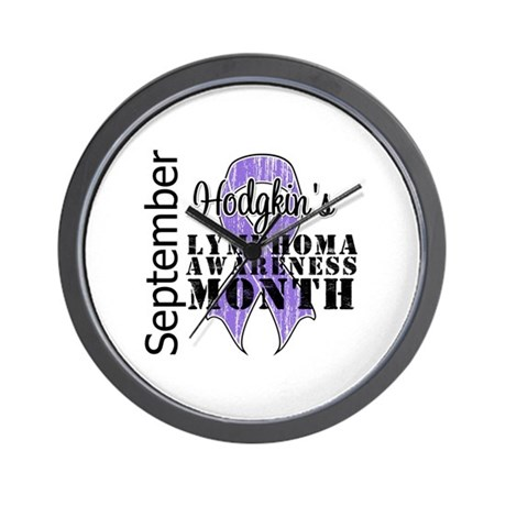 HodgkinsAwarenessMonth Wall Clock