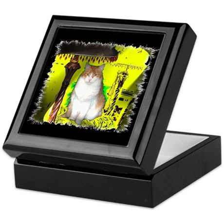 Pop Art Cat Keepsake Box