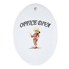 Cute Workplace Oval Ornament