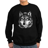 Painted Wolf Grayscale Sweatshirt