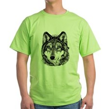 Painted Wolf Grayscale T-Shirt