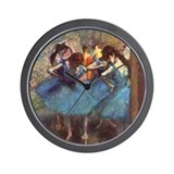 Dancers in Blue Wall Clock