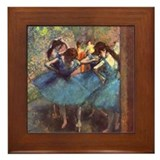 Dancers in Blue Framed Tile