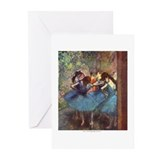 Dancers in Blue Greeting Cards (Pk of 10)