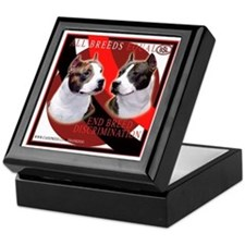 American Staffordshire Terrier Keepsake Box