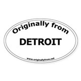 Detroit Oval Decal