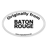 Baton Rouge Oval Decal