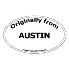 Austin Oval Decal