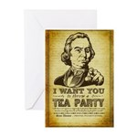 Sam Adams Tea Party Greeting Cards (Pk of 20)