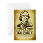 Sam Adams Tea Party Greeting Card