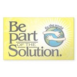 BE PART OF THE SOLUTION -Decal