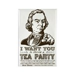 Sam Adams Tea Party Rectangle Magnet (100 pack)