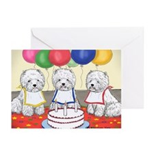 Birthday Party Westies Greeting Cards (Pk of 20)