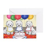 Birthday Party Westies Greeting Cards (Pk of 10)