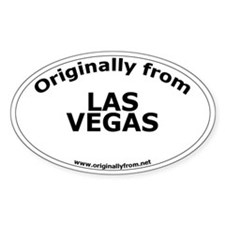 Las Vegas Oval Decal